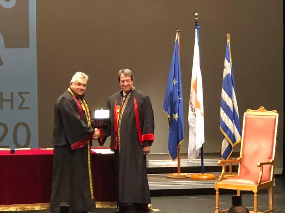 Ο Πρύτανης του Α.Π.Θ. κ. Νικόλαος Παπαϊωάννου με τον Πρόεδρο της Κυπριακής Δημοκρατίας κ. Νίκο Αναστασιάδη
