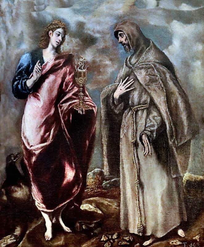 Saint John the Evangelist et St Francis